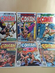 Conan The Barbarian Lot 6 - Marvel 757677787980 - Vf 8.0 Or Higher