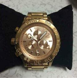 Nixon 42-20 Chrono Pink Gold Stainless Steel Men's Watch Shipped From Japan