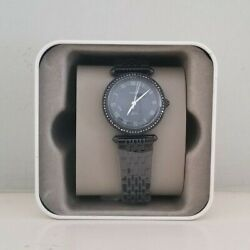 Fossil Women#x27;s Lyric Three Hand Black Stainless Steel Watch ES4713 $64.99