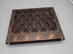 Ornate Antique Cast Iron Victorian Floor Wall Vent Grate Register Louvered 4