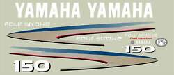 Replacement Decal Kit For Yamaha 150 Hp 4 Stroke Outboard Motor