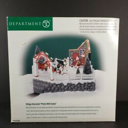 1999 Department 56 Village Animated Photo With Santa 56.52790 Works Watch Video