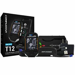 Compustar Rfx-p2wt12-ss 3-mile 2-way Lcd Rf Remote + Dr-x1 Lte Drone Mobile