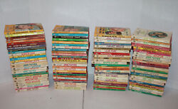 Lot Of 107 Vintage Red Page Edge Harlequin Romance Books