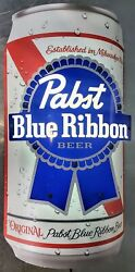 Original Pbs Pabst Blue Ribbon Curved Can Led Light Lit Wall Sign 9.5wx18hx4d