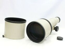 [excellent+++++] Canon New Fd Nfd 600mm F/4.5 Mf Telephoto Lens From Japan