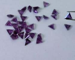 Natural African Amethyst Triangle Shape Faceted Cut Loose Gemstone 16mm - 20mm