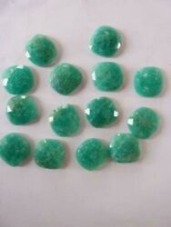 Amazonite Cushion Shape Flat Back Faceted Cut Loose Gemstones Pair 11mm To 15mm