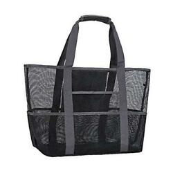Mesh Beach BagToy Tote Bag with Waterproof Inside Pockets for $25.28