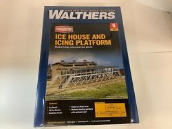 """Walther's 933-3245 N Scale """"ice House And Icing Platform"""" Kit"""