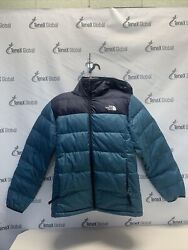 North Face Puffer Jacket with Hood Men Navy Blue Large C 10 $69.99
