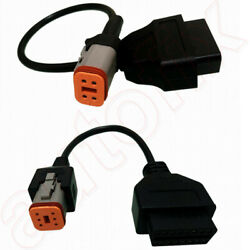 Fits Harley Davidson Motorcycle 4 And 6 Pin Obd Obd2 Diagnostic Cable Adaptor