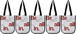 Lululemon Be All In Manifesto Reusable Shopping Lunch Bag Tote Set of 5 Totes $14.95
