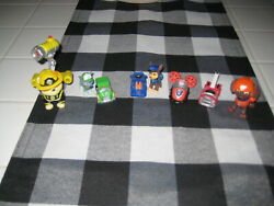 LOT PAW PATROL SPIN MASTER MICRO MINI CARS 2 MINI DOGS AND 2 LARGE FIGURE TOYS