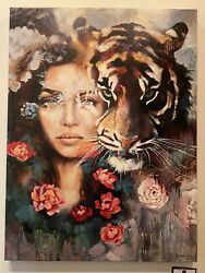 All Consuming Original Work Multi-color By Dimitra Milan 36x36in
