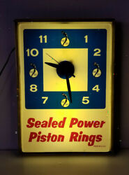 Vintage Clock Sealed Power Piston Rings Chevy Ford Dodge Hot Rod Garage