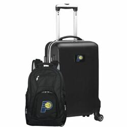 Indiana Pacers Deluxe 2-piece Backpack And Carry On Set In Black