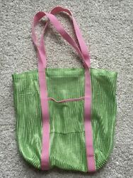 Old Navy Green And Pink Mesh Beach Bag With Front Pocket $1.99
