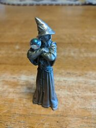 Gallo Pewter Defiant Wizard With Crystal