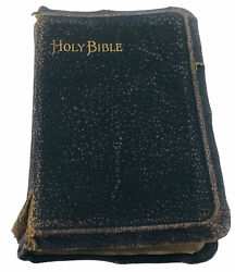 Antique Early 1900 Oxford Pocket Holy Bible Old And New Testament