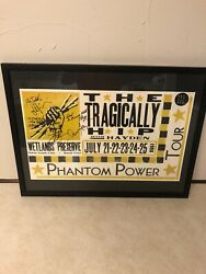 The Tragically Hip Silk Screen Printed Poster Personally Autographed