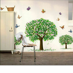 Butterfly Tree boarder Removable Kids Nursery Wall Decal Vinyl Stickers Decor BS