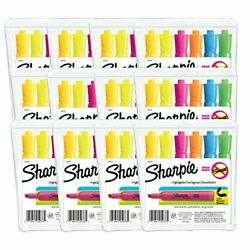 Sharpie Tank Style Highlighters Chisel Tip Assorted Colors 12 Packs Of 6 72 C...
