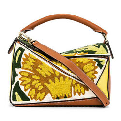 Loewe Yellow Floral Puzzle Leather Bag 303.30.s21.8100 [brand-new]