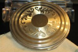 Vintage Art Deco Sterling Silver Compact Powder Mirror Case By Volupte Usa