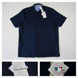 Tommy Bahama MLB Embroidered Silk Baseball Clutch Play Camp Shirt Mens Large New $79.99