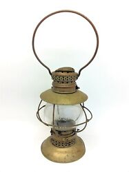 Rare L Searls Brass Keely And Co Rochester Ny Railroad Lantern Lamp Parts