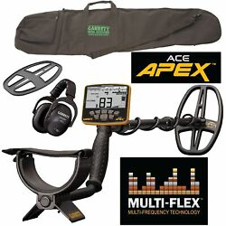 Garrett Ace Apex Metal Detector With Z-lynk Wireless Headphone Package And Bag