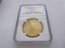 2013 American Eagle Gold 50 Ngc Ms-69 Gold 50 One Ounce