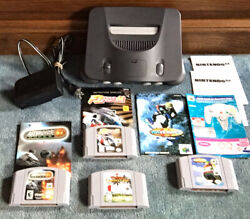 Tested And Working Nintendo 64 Console Lot W/ 4 Games And Books Check It Out