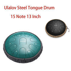 Ulalov Drum Hand-pan Percussion Drum 13 Inch With Travel Bag Mallet Adult Women