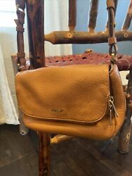 FOSSIL Purse Brown Pebbled Leather SM Zippered Crossbody Shoulder Bag $27.00