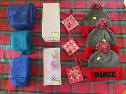 Lot Of 3-gifts For Dancers - Dance Novelties - Hats, Leg Warmers, Jewelry Holder