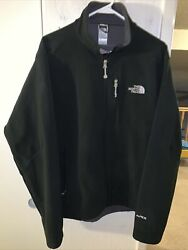 The North Face Apex Barrier Soft Shell Mens Large Black Full Zip Jacket $49.95