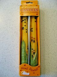Vintage Amscan Box Of 2 Ears Of Corn Taper Candles - Thanksgiving Autumn 10t