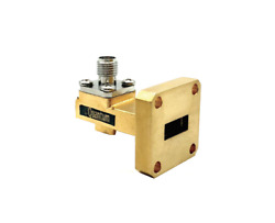 Wr-42 Coax To Waveguide Adapter Gold Plated By Quantum Microwave