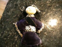 Antique China Doll Super Cool Face Velvet Clothing
