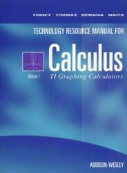 Calculus Texas Instruments Technical Resource Manual Volume 1 For Ti-81ti-82 An