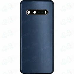 Lg V60 Thinq Back Door Rear Battery Cover Case W/ Camera Lens + Adhesive Blue