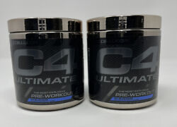 2 New Cellucor C4 Ultimate - Pre Workout Powder - 20 Servings - Icy Blue Razz