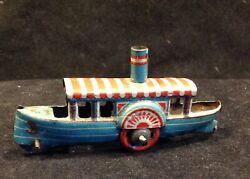 Antique German Tin Penny Toy Steamboat