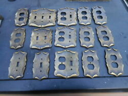 Lot Of 15 Vintage Cast Sa Amerock Light Switch And Wall Outlet Cover Plates Rare