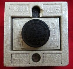Vintage Collectible Ceramic Electric Main Switch Vitreous England
