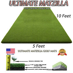 5and039 X 10and039 Golf Chipping Driving Range Tee Line Practice Mat - Holds A Wooden Tee