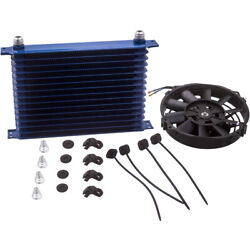 New An10 15 Row Engine Transmission Aluminum Oil Cooler And 7 Electric Fan Kits
