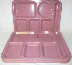 Carlisle 6 Compartment Divided Cafeteria Fast Food Tray 14.5 X 10 Lilac Purple